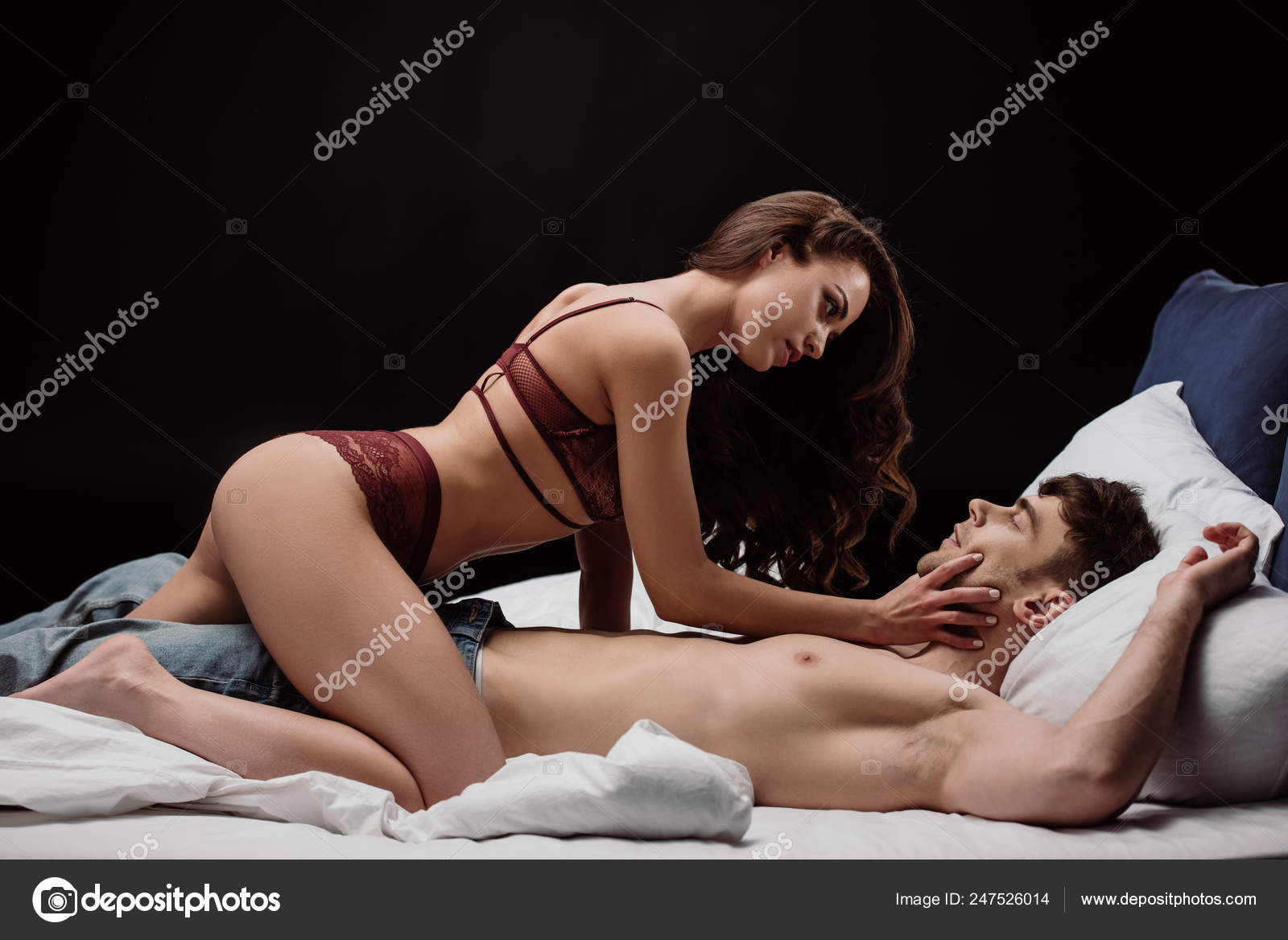 Sexy pictures of men touching women