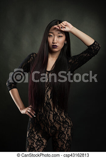 Sexy asian women with swords