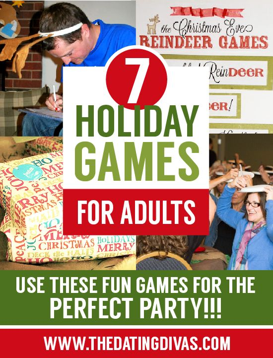 Adult holiday party games
