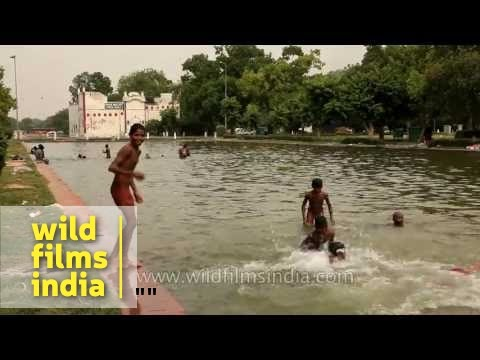 Naked indian boys swimming